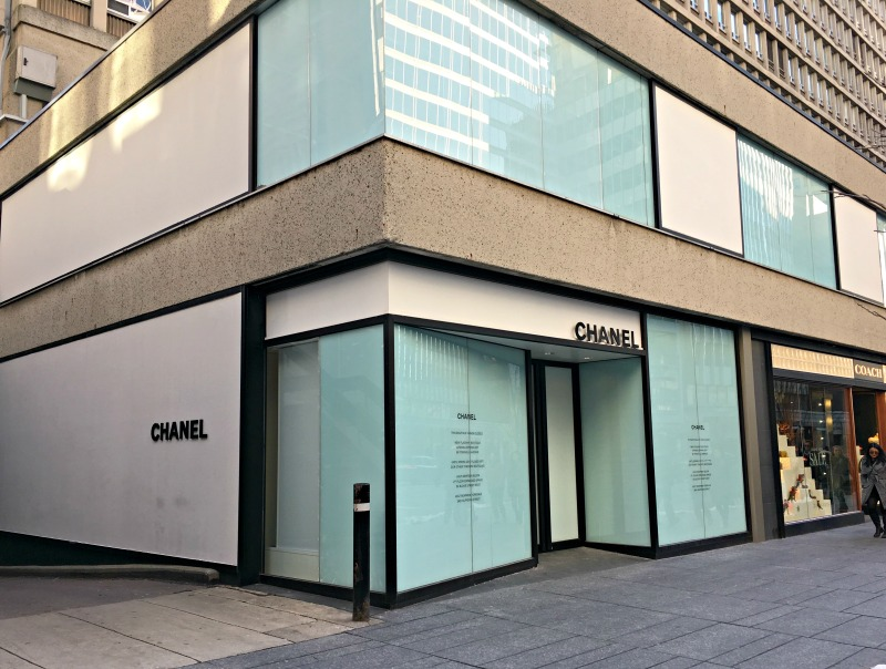 (Papered over windows at the former Chanel flagship at 131 Bloor St. W. on January 1, 2017)