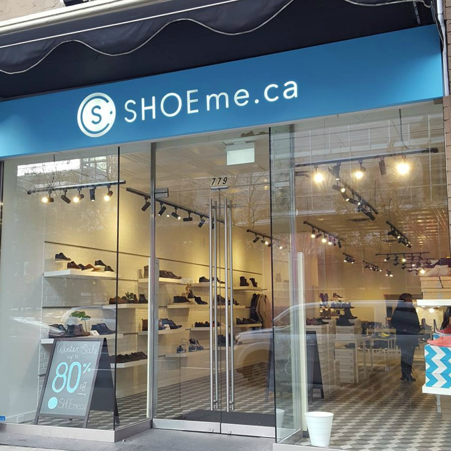 (Vancouver's 'shoeme.ca' store was only open for a couple of weeks. Doors were locked on friday. Photo: helen Siwak)