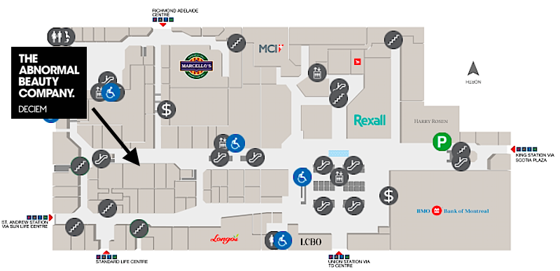 (click image for interactive exchange tower/first canadian place mall map)