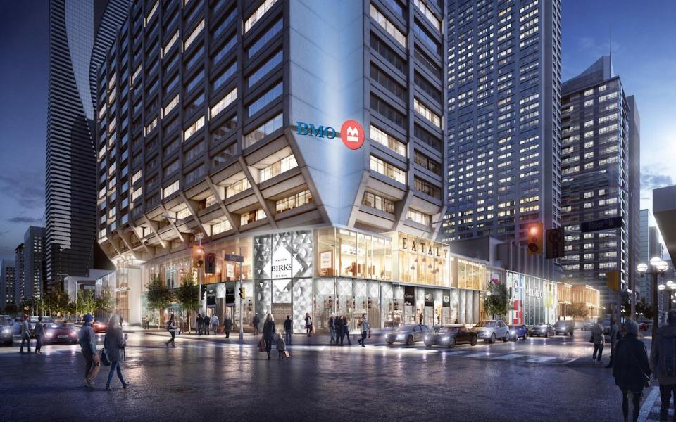(Manulife centre redevelopment. rendering: manulife)