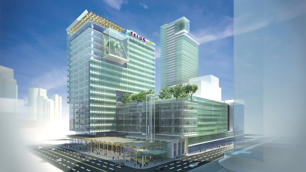 (vancouver's telus garden has a considerable amount of retail space, including a large restaurant facing west georgia street. rendering via westbank corp.)