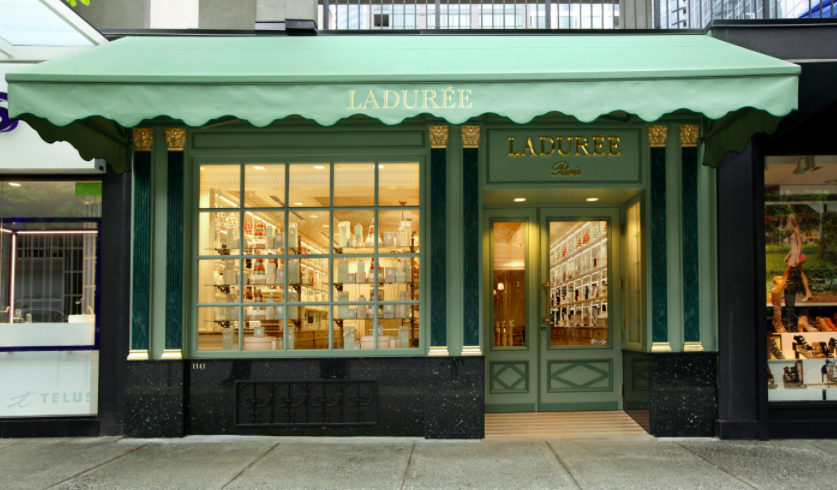 (1,100 square foot Vancouver ladurée location at 1141 robson street)