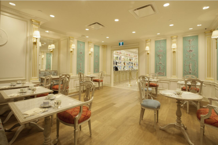 (vancouver robson street tea salon. the new toronto yorkdale store will also feature a similar tea salon space)