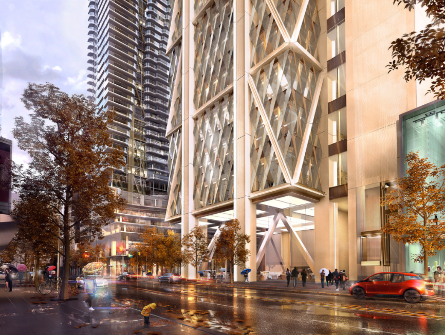 (future yonge and bloor intersection. rendering: mizrahi developments)