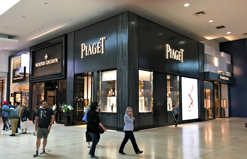(Richemont group opened 4 boutiques at toronto's yorkdale shopping centre last week -- piaget, vacheron constntin, IWC and panerai)
