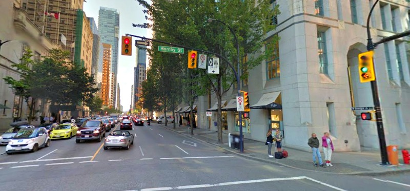 (In Vancouver This fall, chopard will find a new home at the northwest corner of Hornby and W. Georgia Streets, in Cathedral Place. Photo: Google Street View Screen Capture)