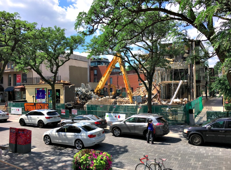 (Demolition at 102-108 Yorkville Avenue. Photo: Craig Patterson)