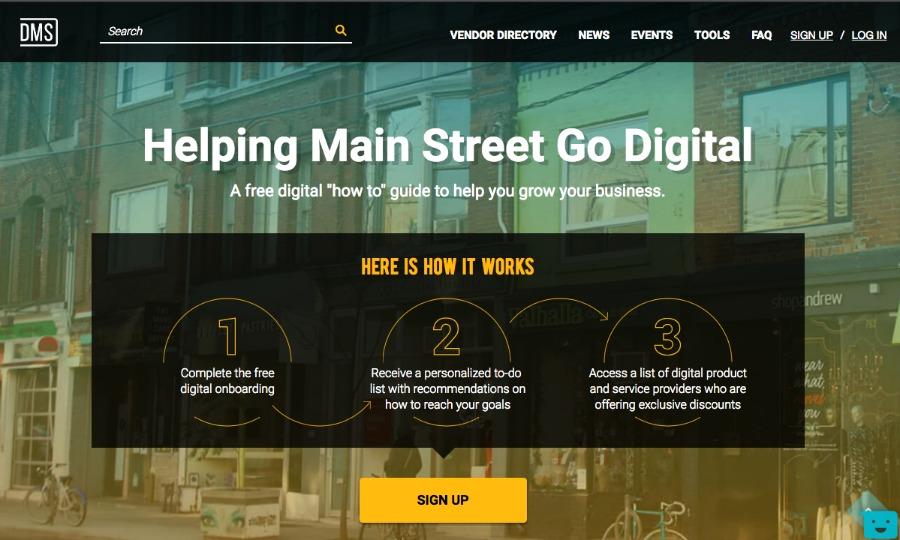(Screen shot from the digital main street website)