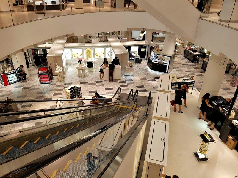 (looking DOWNSTAIRS from the store's ground level. this space was formerly Holt's menswear floor.Photo: Ritchie Po)