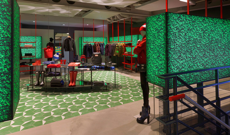 (Eye-catching colours and CREATIVE arrangements create an inviting space at hunter store in London, UK. Photo: Hunter)