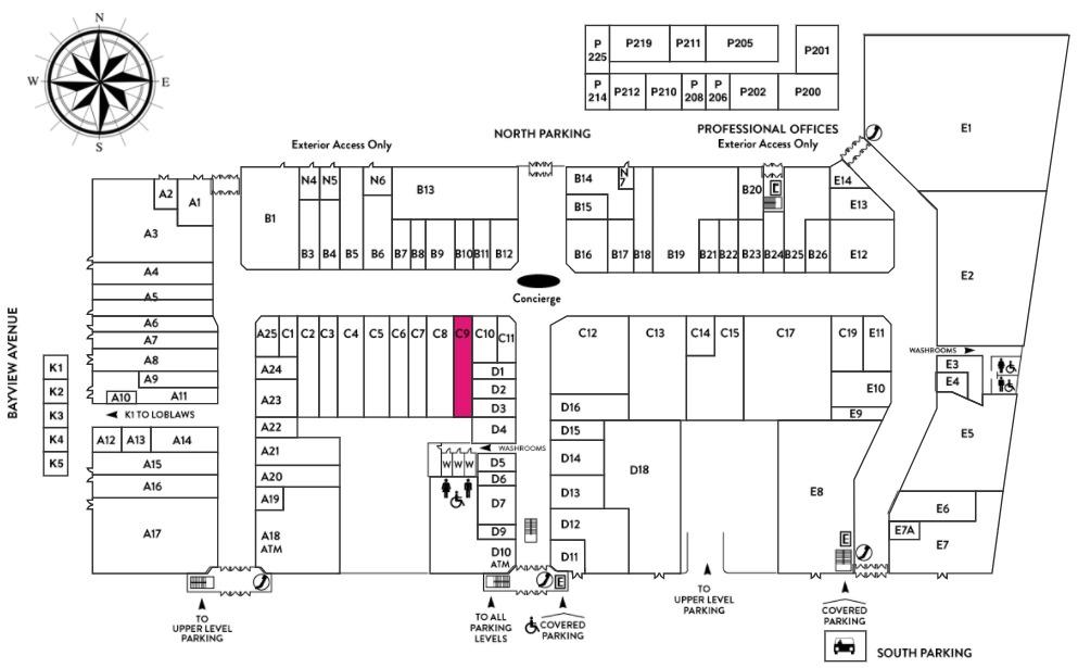 (Click for interactive bayview Village floor plan)