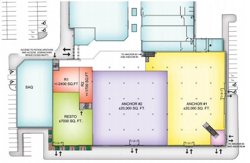 (Ground floor, option: 4 anchors)