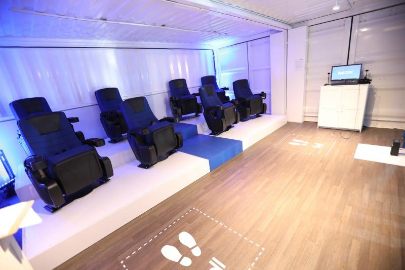 (Loki Box Design's VR theatre installation for bell. Photo: Loki Box Design)
