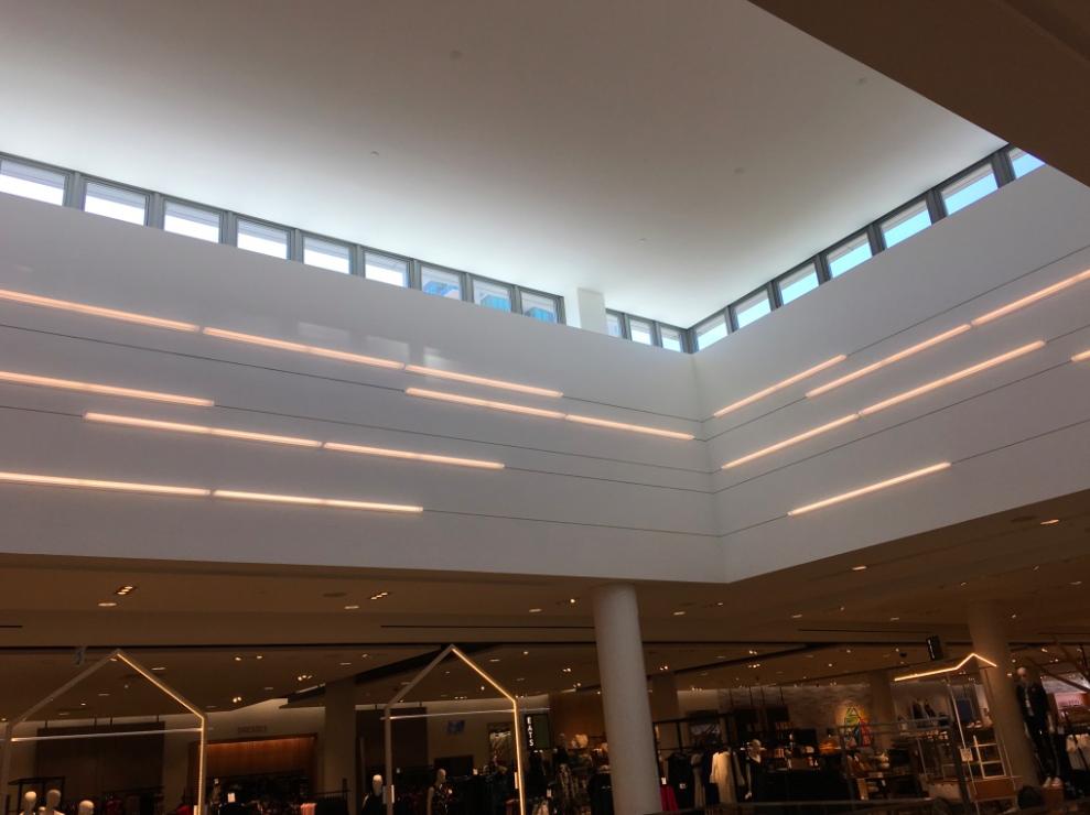 (Sunlit atrium at the new CF Sherway Gardens Nordstrom store)