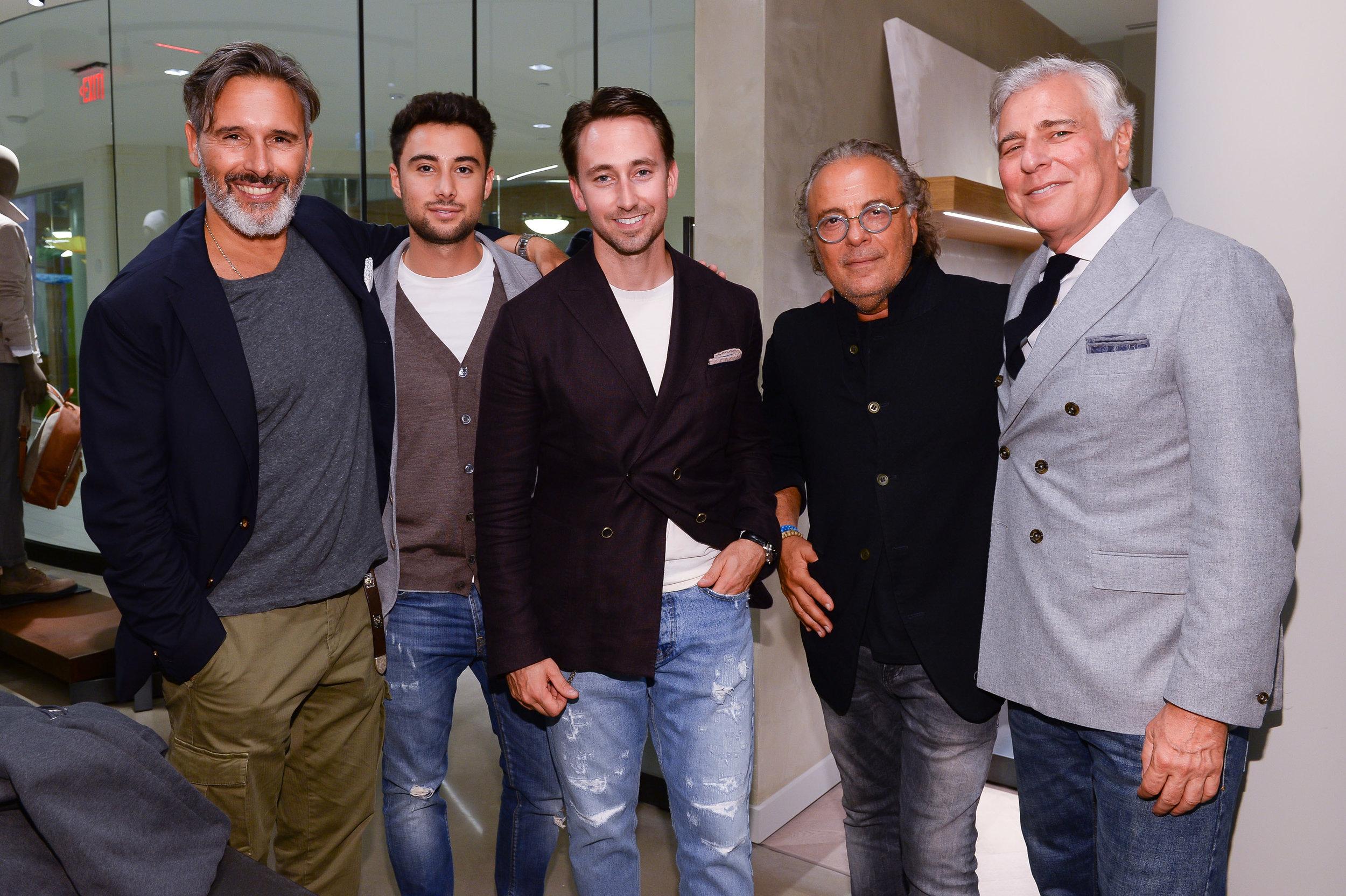 Left-to-right: Marco Baldassari, Aiden Assaraf, Geoff Schneiderman Arie Assaraf, and Earl Rotman.