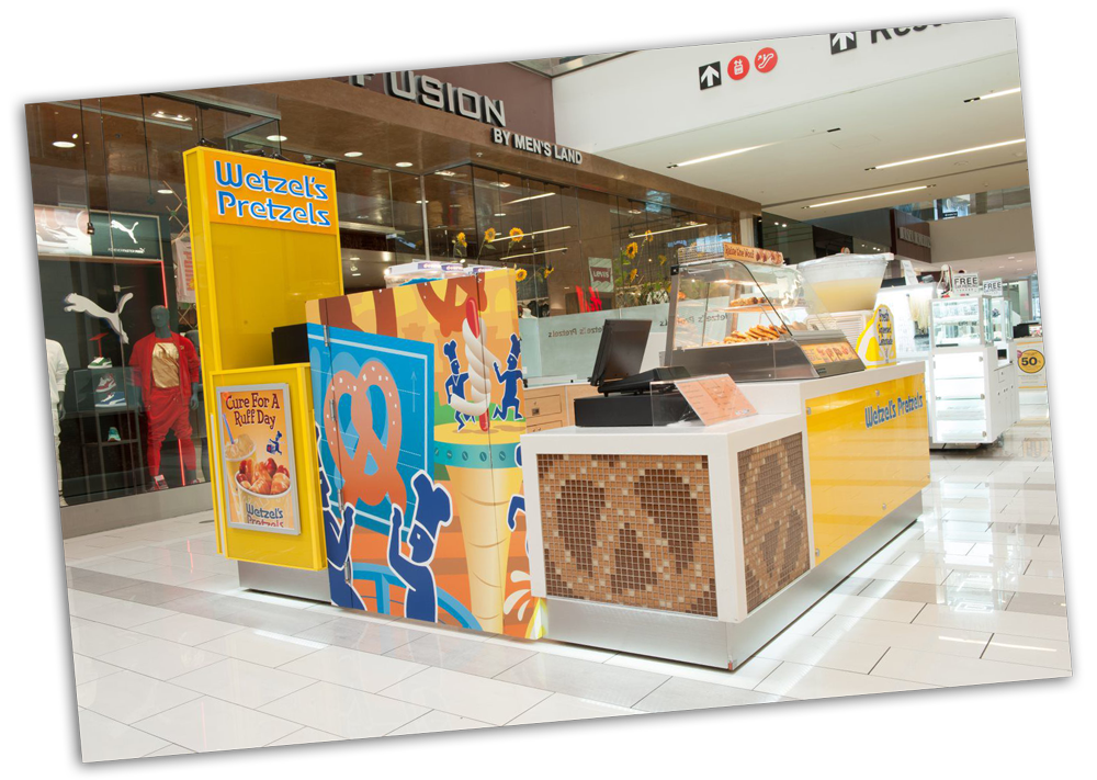 (Example of an in-mall kiosk)