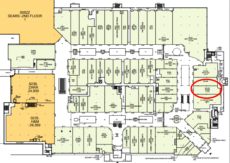 (Click for PDF halifax shopping centre lease plan)