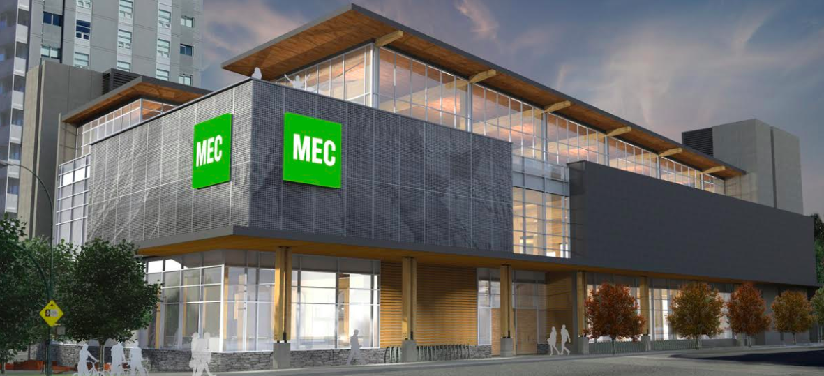 (Rendering of the new Vancouver Olympic Village Store)