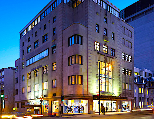 (Holt Renfrew's 84,000 square foot store at 1300 Sherbrooke St. W. will close in 2020 when Holt's merges with Ogilvy, two blocks south. Photo: Holt Renfrew)