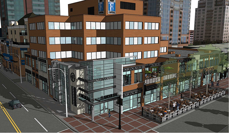 (Rendering of Mount Royal Village in Calgary, via First Capital Realty)