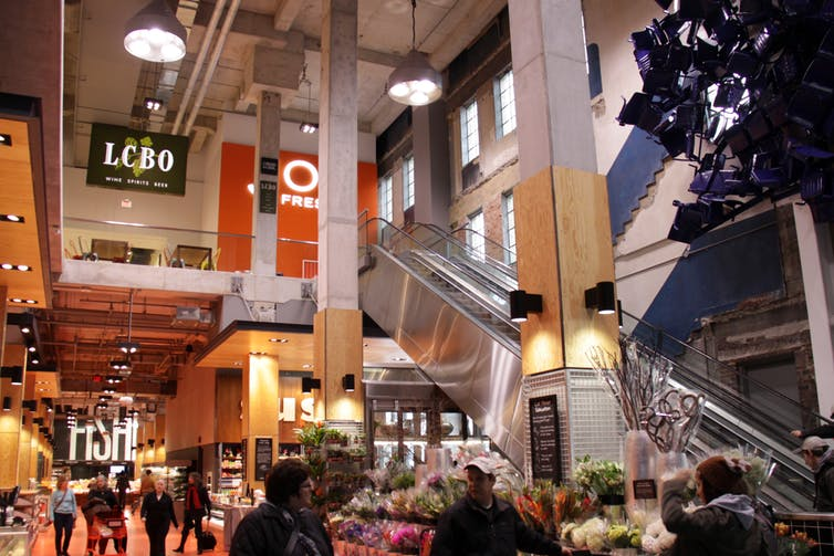 (The Loblaw's store in the former Maple Leaf Gardens in Toronto is a veritable grocery cathedral. Creative Commons)