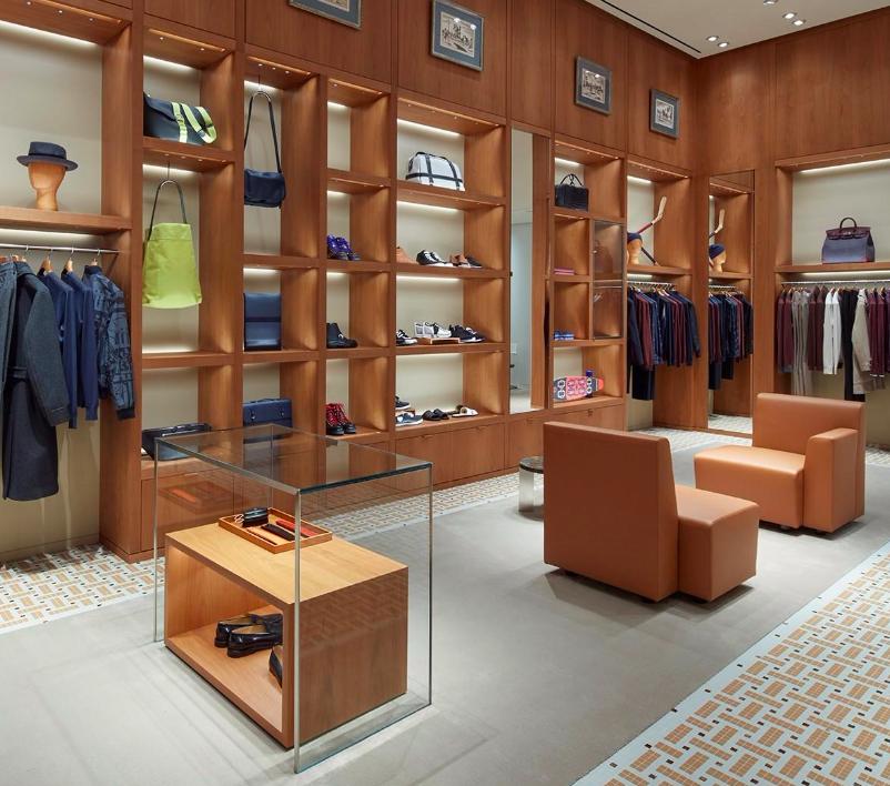 (Men's area on the main floor. Photo: Hermès/Evan Dion)
