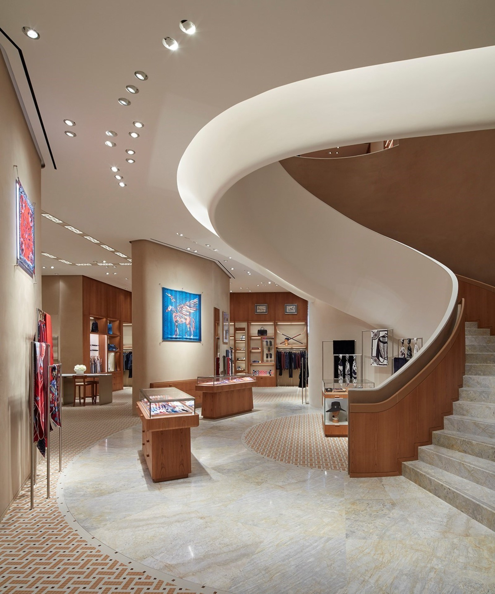 (Looking from the main entrance into the new space. Photo: Hermès/Evan Dion)