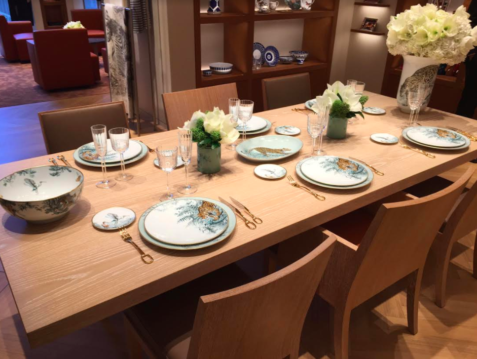 (gorgeous tabletop collections on the second level)