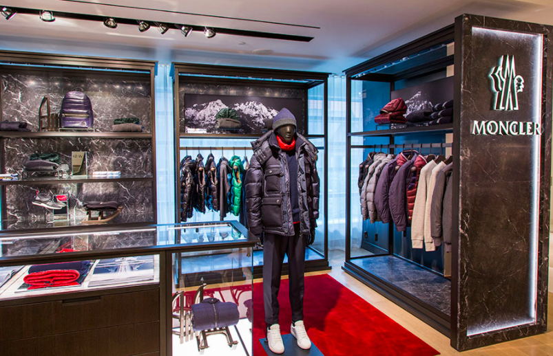 (Moncler -- windows to the rear face Bloor Street West)