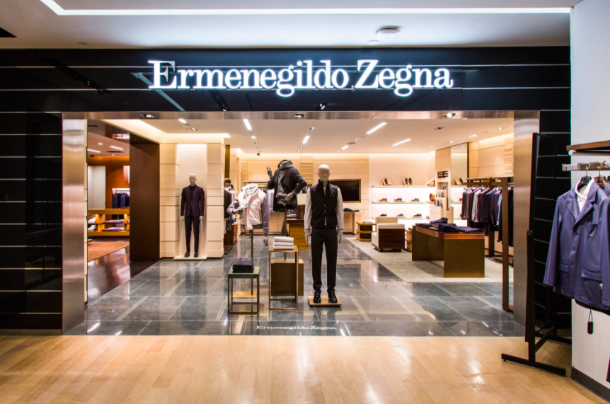 (Zegna boutique -- a first of its kind)