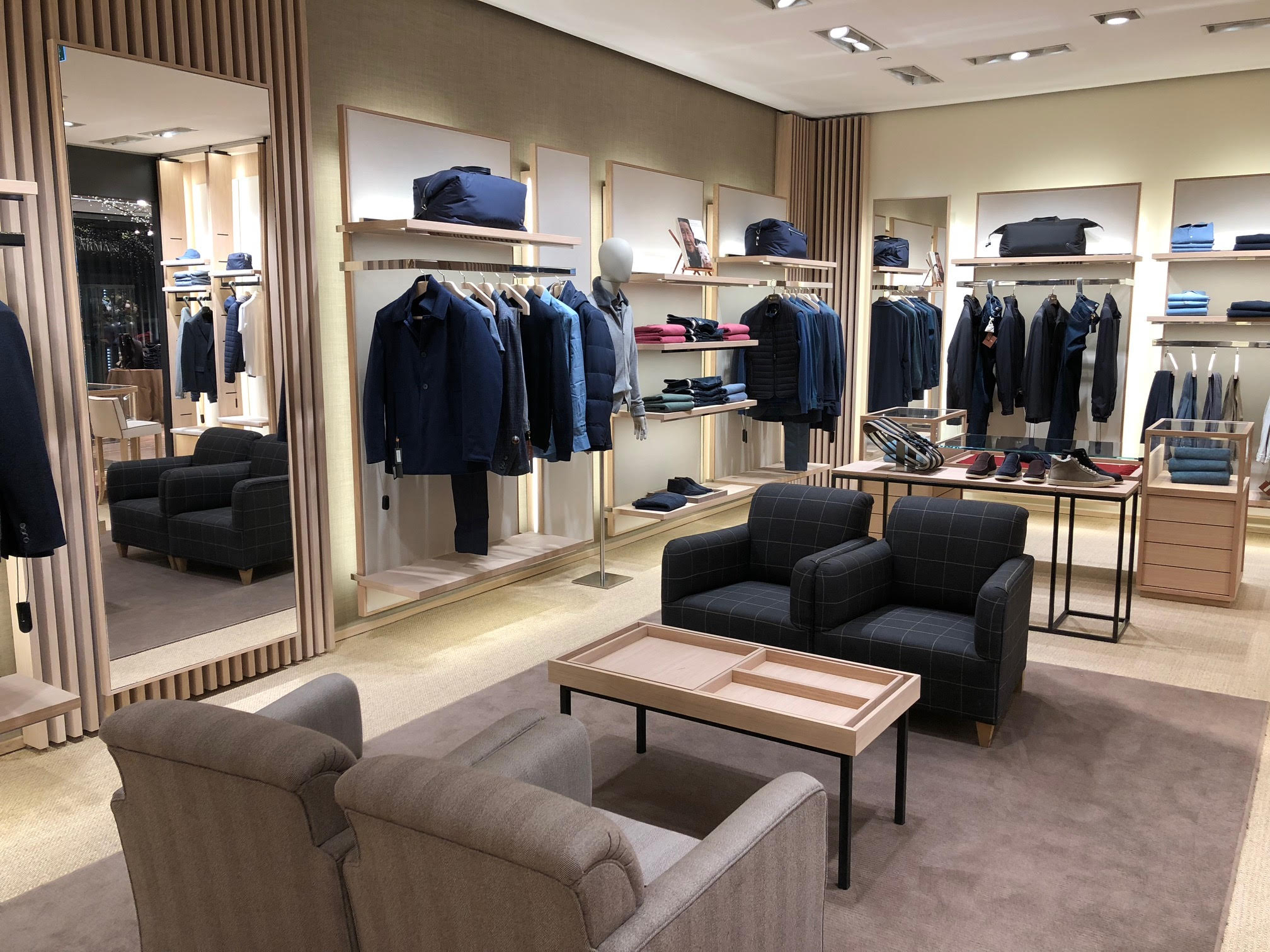 (Inside the Loro PIana Boutique)