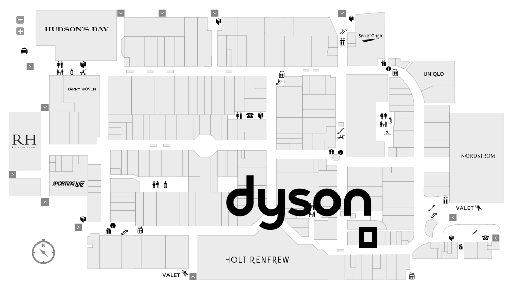 (Click image for interactive Yorkdale Mall Map)