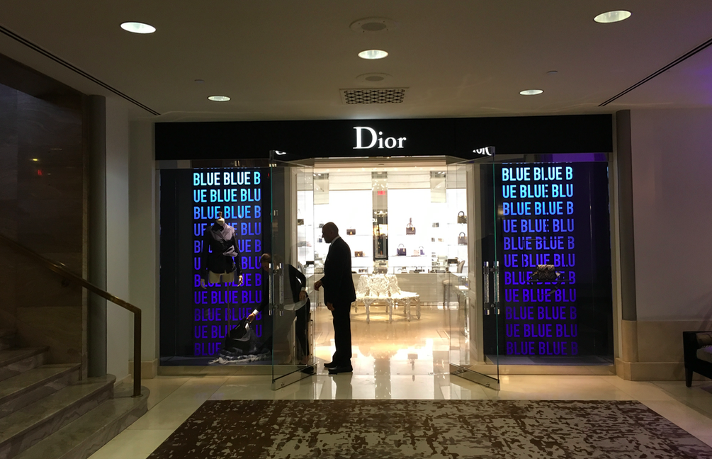 (Entrance to the 9,800 square foot Dior flagship at the Fairmont Hotel Vancouver. Photo: Craig Patterson)