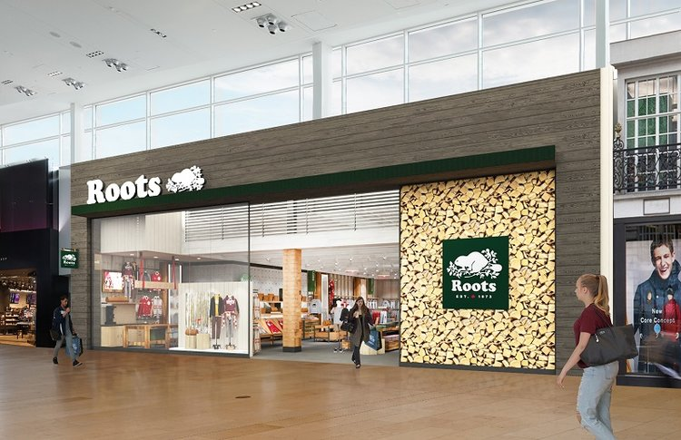 (New 'Roots Cabin' store at Toronto's Yorkdale shopping Centre. Photo: Roots)