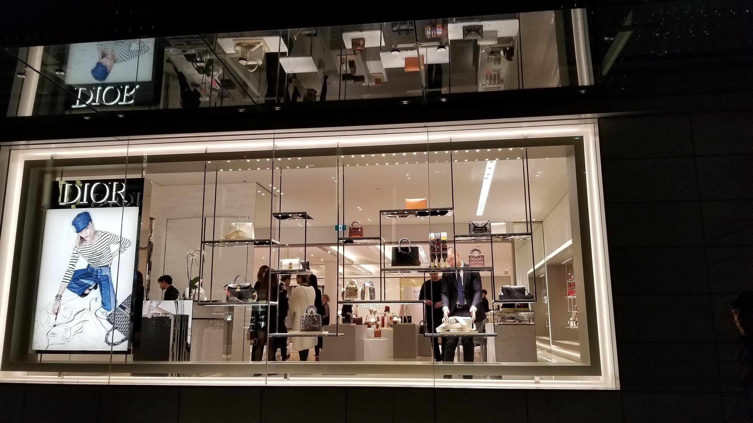 (Looking into the new Dior space from Granville Street. Photo: Helen Siwak)