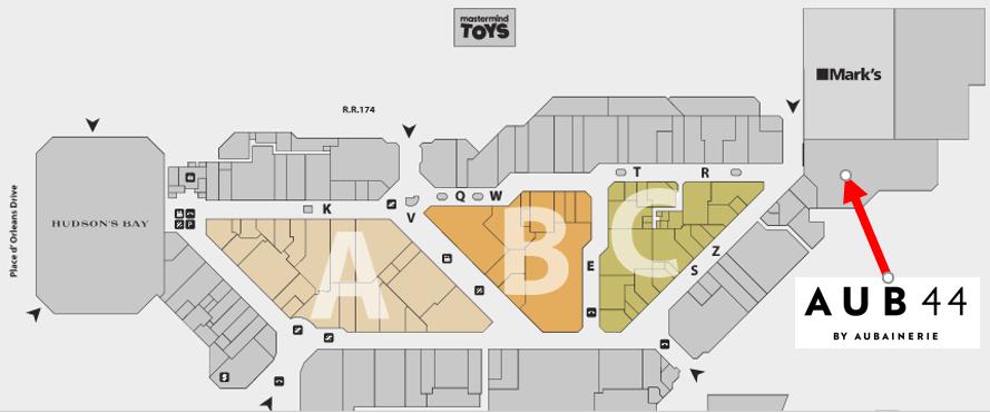 Place d'Orléans Centre Map.  Click for Interactive map