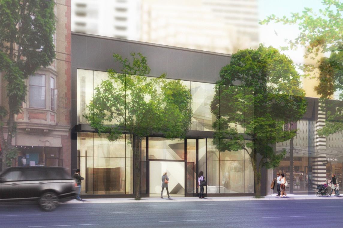 (1067 Robson Street Proposal, rendering via CBRE)