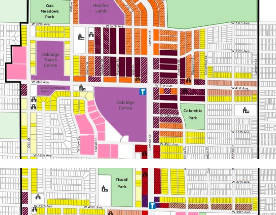 (Area up-Zoning will see billions in construction and tens of thousands more people move into the area in the coming years. Image: City of Vancouver)