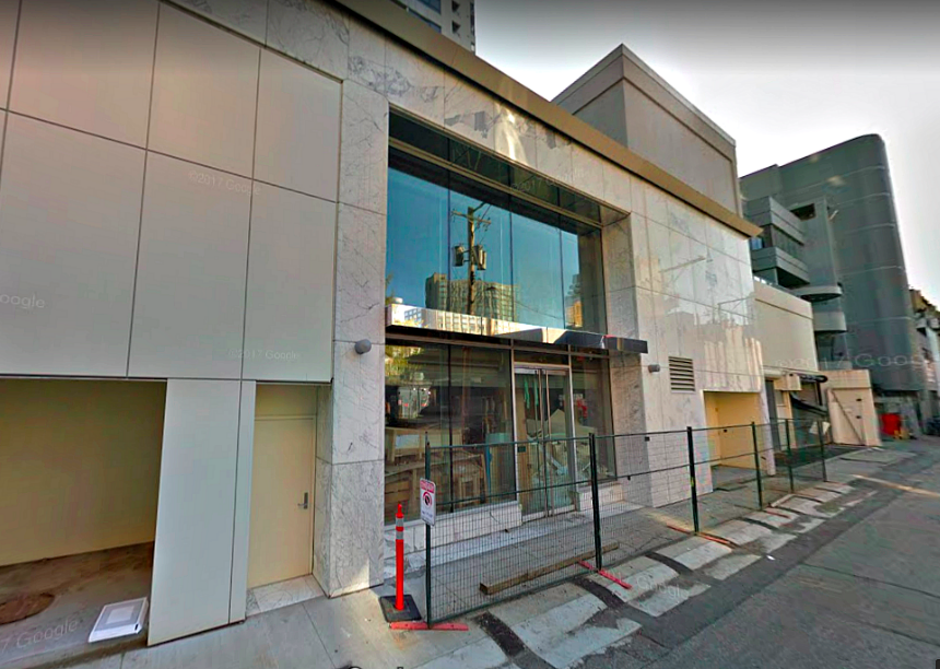 [The store's facade in May of 2017 prior to construction, as seen on Google Street View. Click Image for an interactive Google Street View Experience]