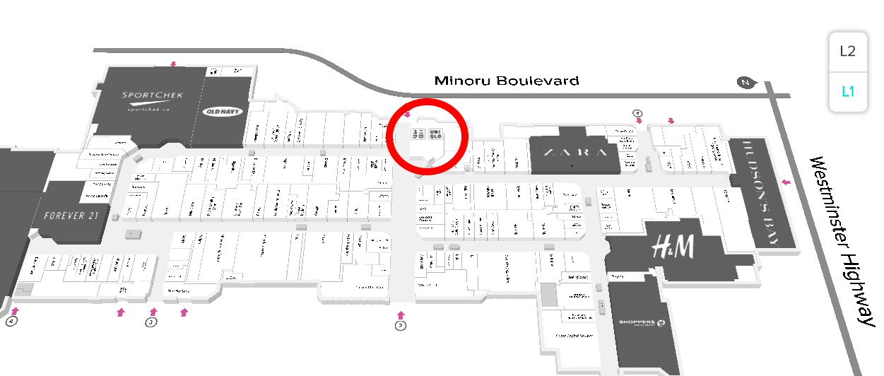 [Click Image for Interactive CF Richmond Centre mall map]