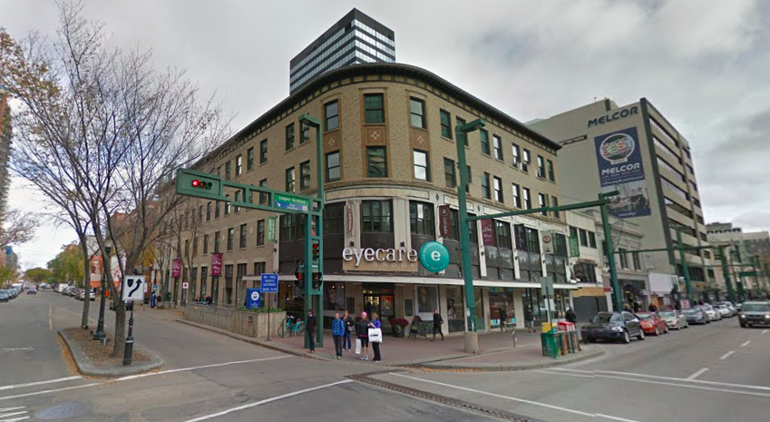 Birks Building in Downtown Edmonton,  built in 1929  (Jasper Avenue and 104 Street). Image: Google Street View. at one time, this stretch of Jasper Avenue, between 103 and 104 Street, housed locations for Birks, Henry Singer Menswear, and a 12,000 square foot Holt Renfrew store -- a separate Holt Renfrew Men's store was once housed at the nearby 'Hotel MacDonald' in a retail annex that has since been demolished.