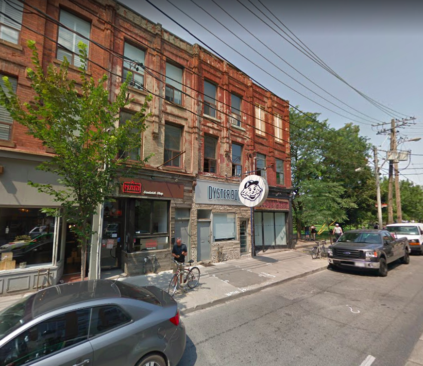 Parkside: Suzi Roher leased retail space adjacent to Trinity Bellwoods Park -- Oyster Boy is located on the other side. Photo: Google Street View