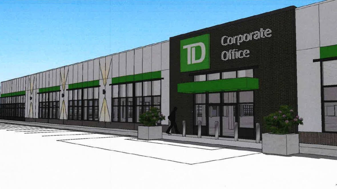TD will open regional offices at CF Champlain near Moncton, NB. Rendering: Cadillac Fairview
