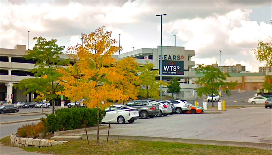 One of several examples: Sears' former space at CF Fairview in Toronto WILL SEE NEW TENANTS IN A REDEVELOPMENT this year. Photo: Google Street View