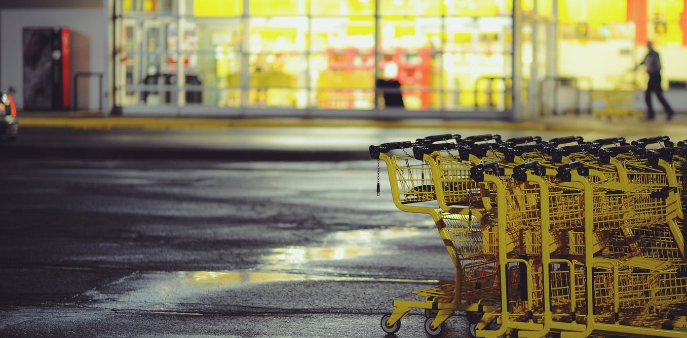 Empty grocery stores could be a sign of the future as grocery stores struggle to make profits and consumer preferences for more choice and services, including online shopping, evolve. Photo: Clark Young/Unsplash
