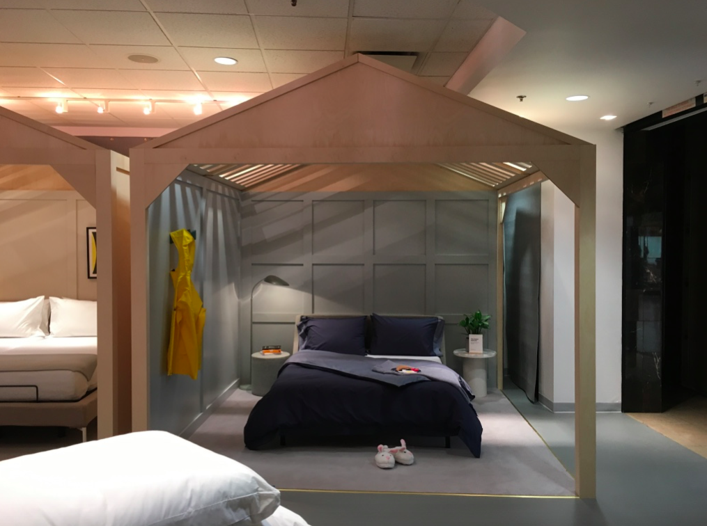 one of four Sleep rooms in the new cf Sherway Gardens Store