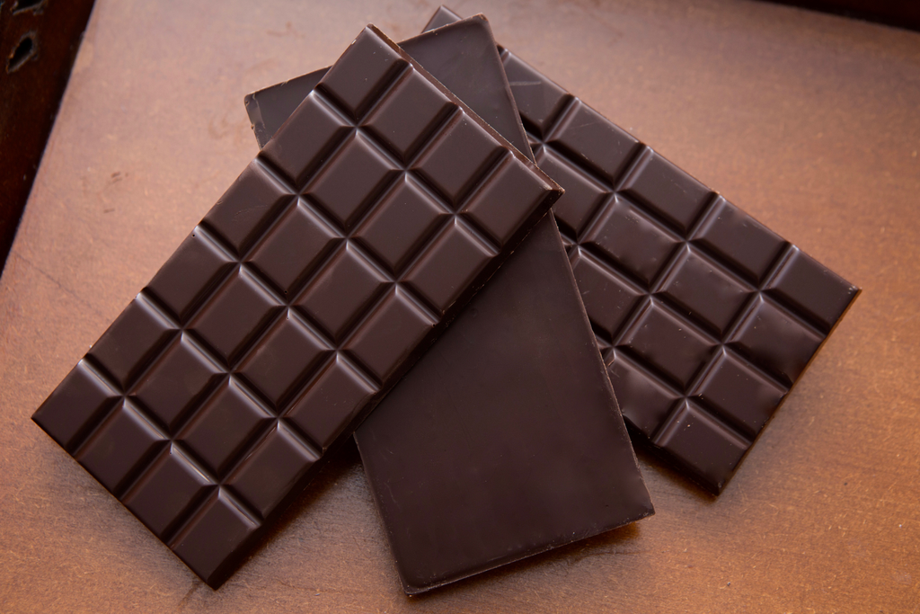 Chocoholics take note: Chocolate bars are among the foods that are shrinking. Photo:  baseema chocolate