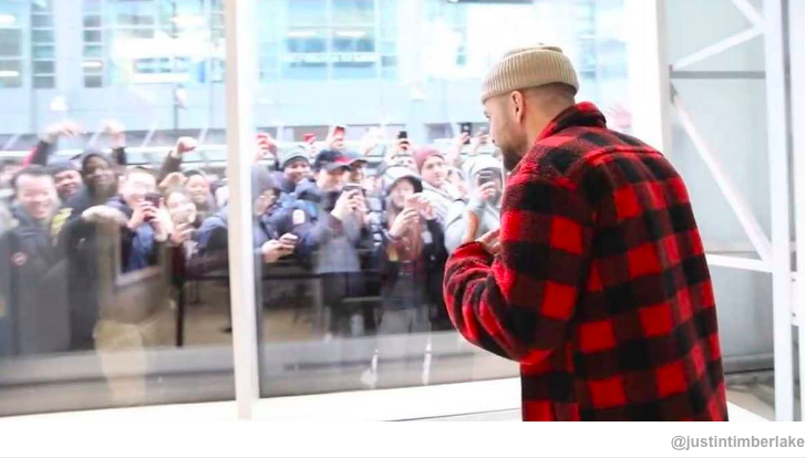 Justin Timberlake at the release of his limited edition  2-Minute Warning sneakers at Toronto's Jordan store at 306 Yonge Street in the spring of 2018.