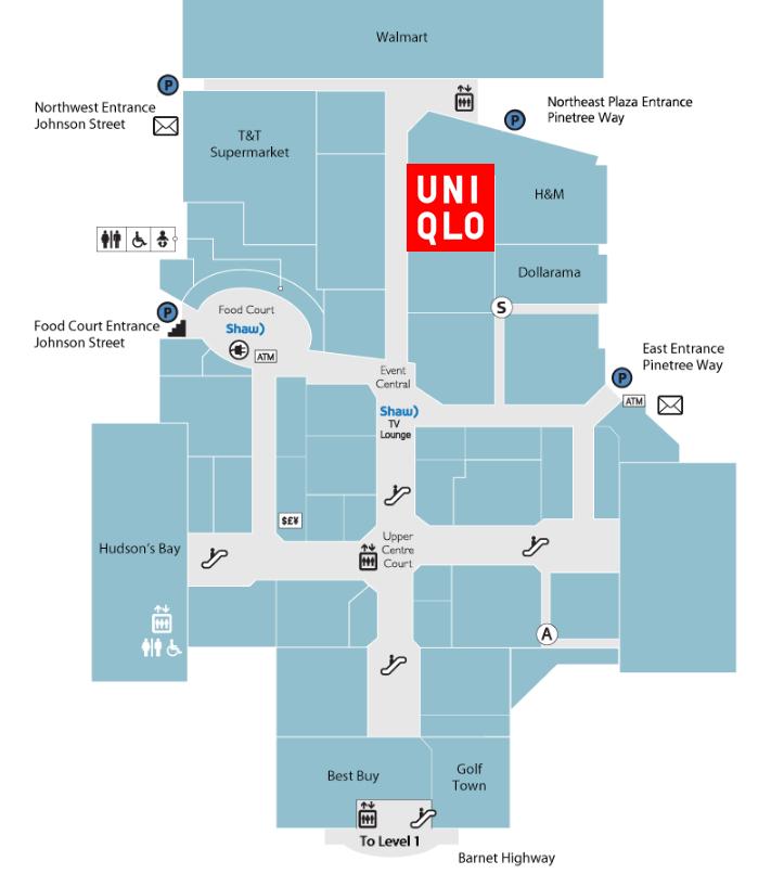 Click for interactive coquitlam centre floor plan