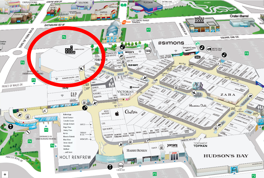 Image links to Square One mall floor plan